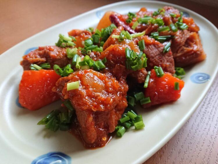 韓国料理カルビチムの簡単レシピの完成