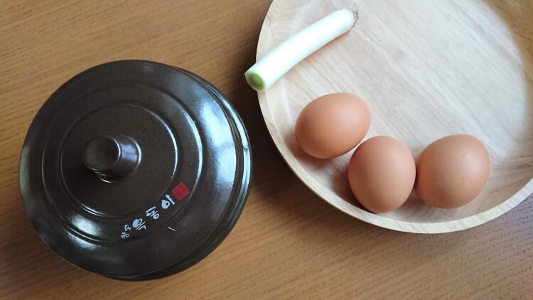 韓国で人気のケランチム(茶碗蒸し)のレシピ材料