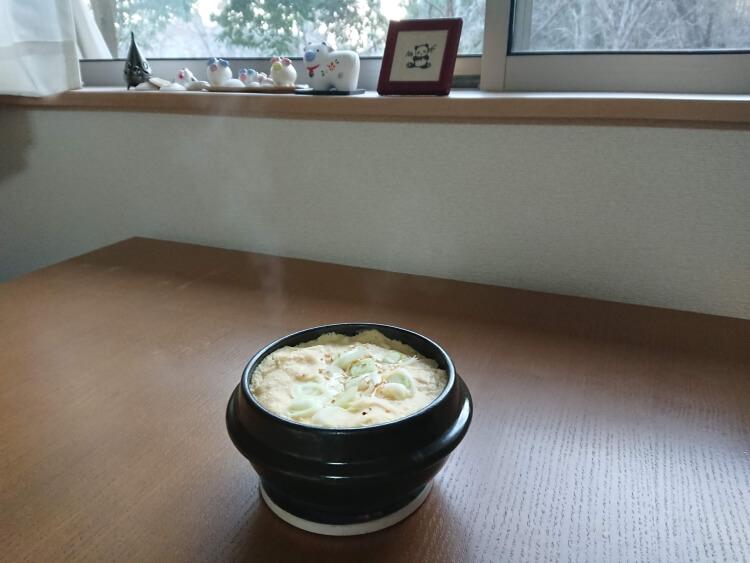 韓国で人気のケランチム(茶碗蒸し)