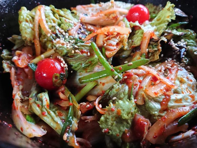 チョレギサラダ(サニーレタスのサラダ)レシピの完成