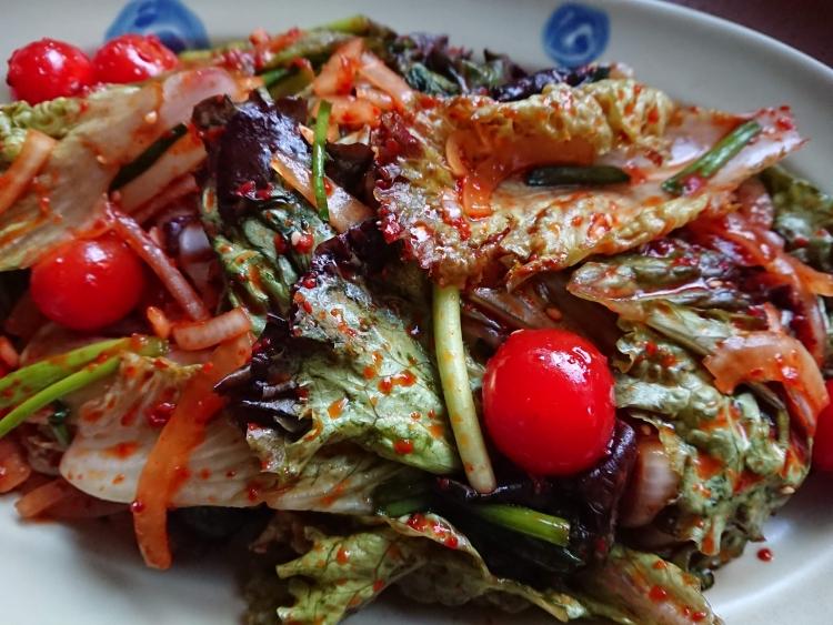 チョレギサラダ(サニーレタスのサラダ)