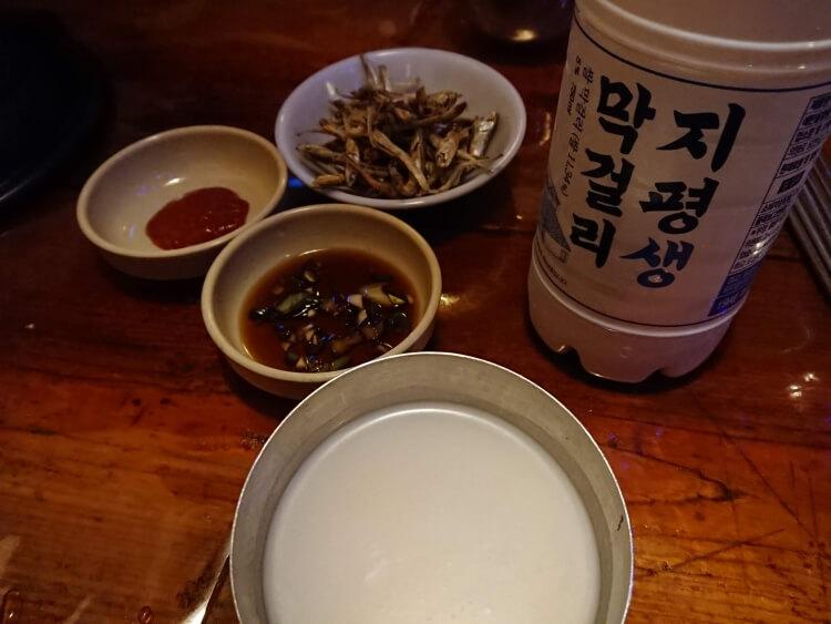 ソウルで飲んだマッコリ