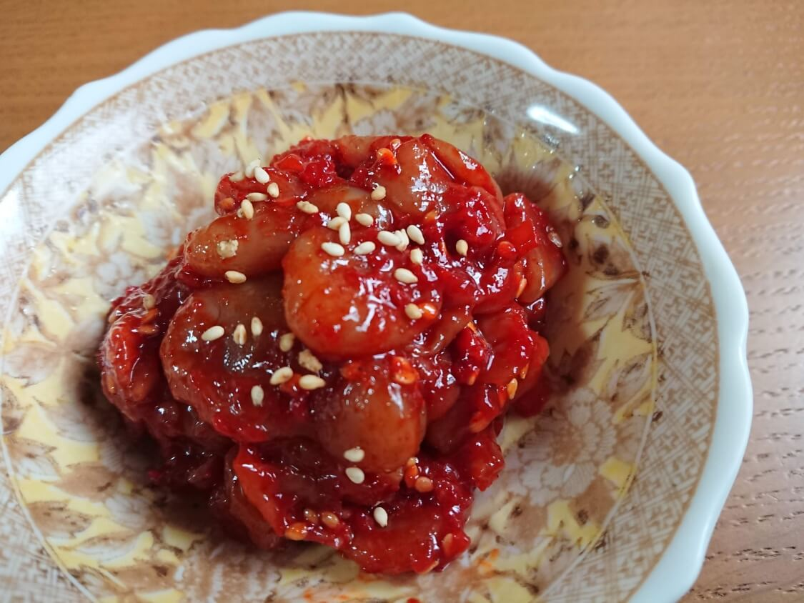韓国の市場で購入したチャンジャ