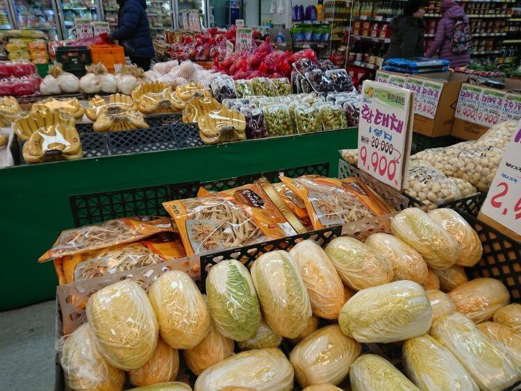 韓国のスーパーで干し鱈