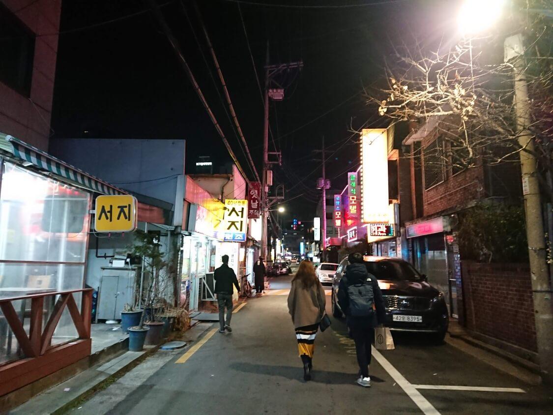 ソウルの街の風景