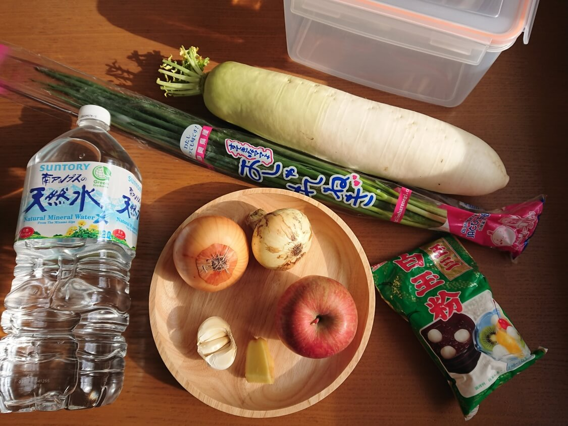 大根の水キムチ「トンチミ」の韓国レシピ、材料とヤンニョム