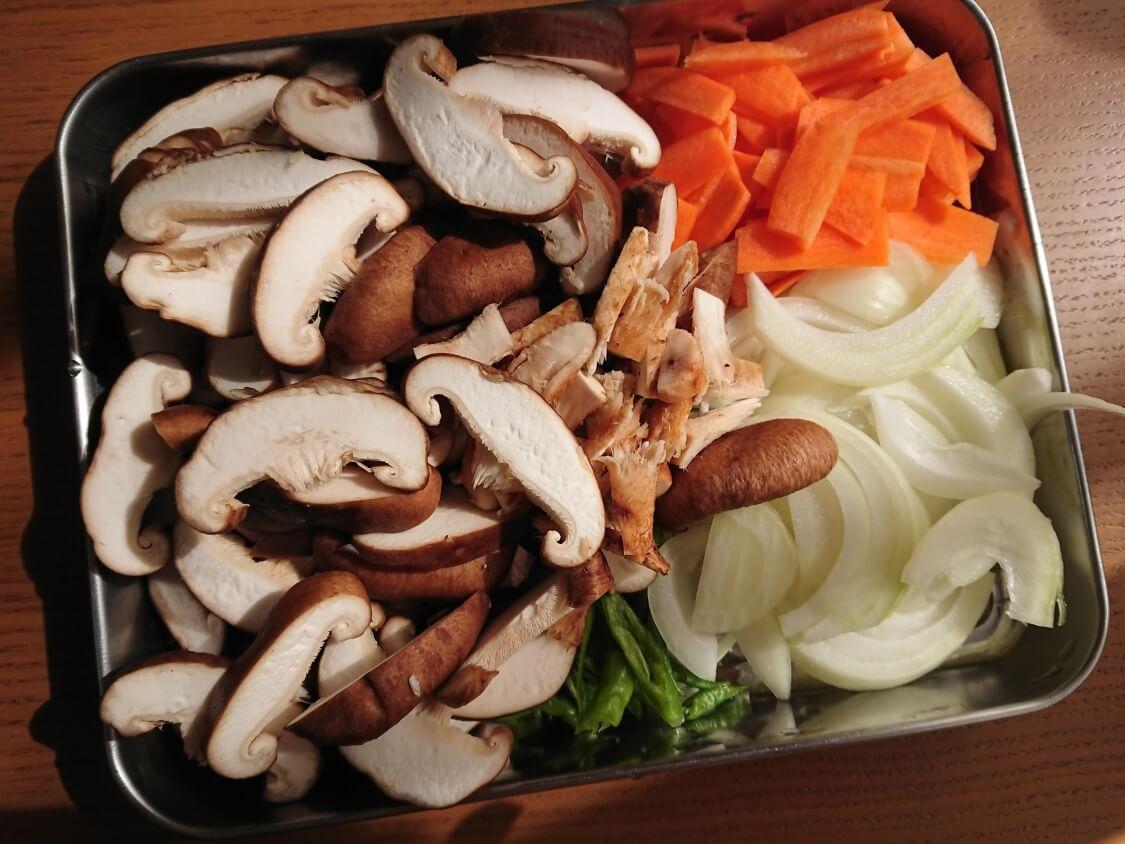 きのこの炒め物の韓国レシピ