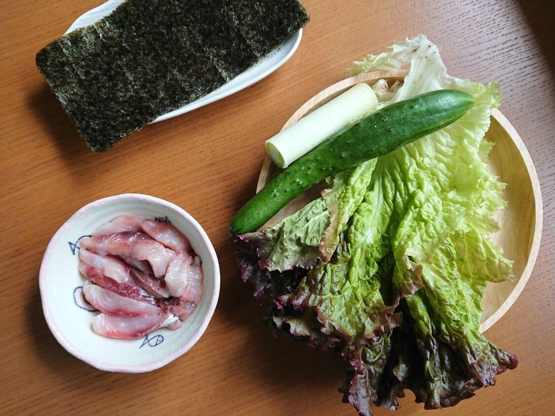 韓国の海鮮ユッケ丼のレシピ材料