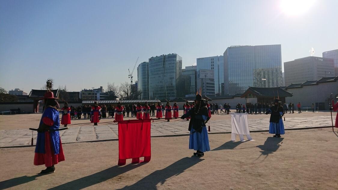 韓国ソウルの景福宮(キョンボックン)のイベント、守門将交代式