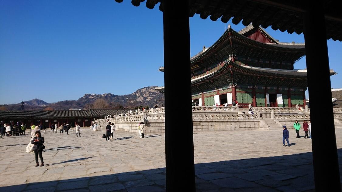 韓国ソウルの景福宮(キョンボックン)の景色