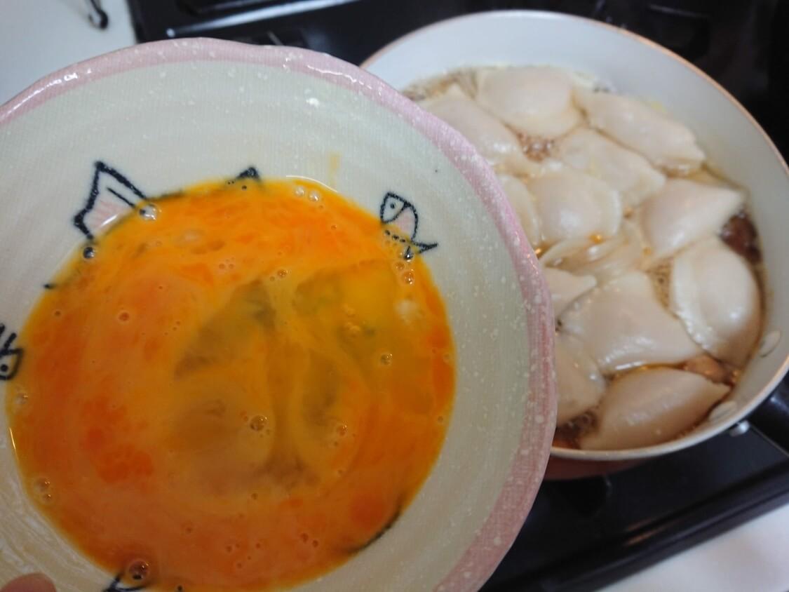 餃子スープ(韓国マンドゥクッ)のレシピ。卵追加