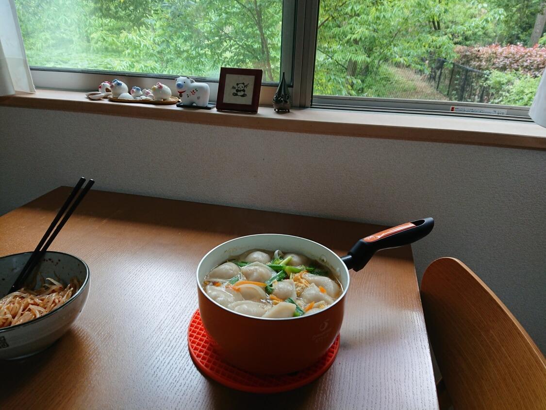 餃子スープ(韓国マンドゥクッ)の完成