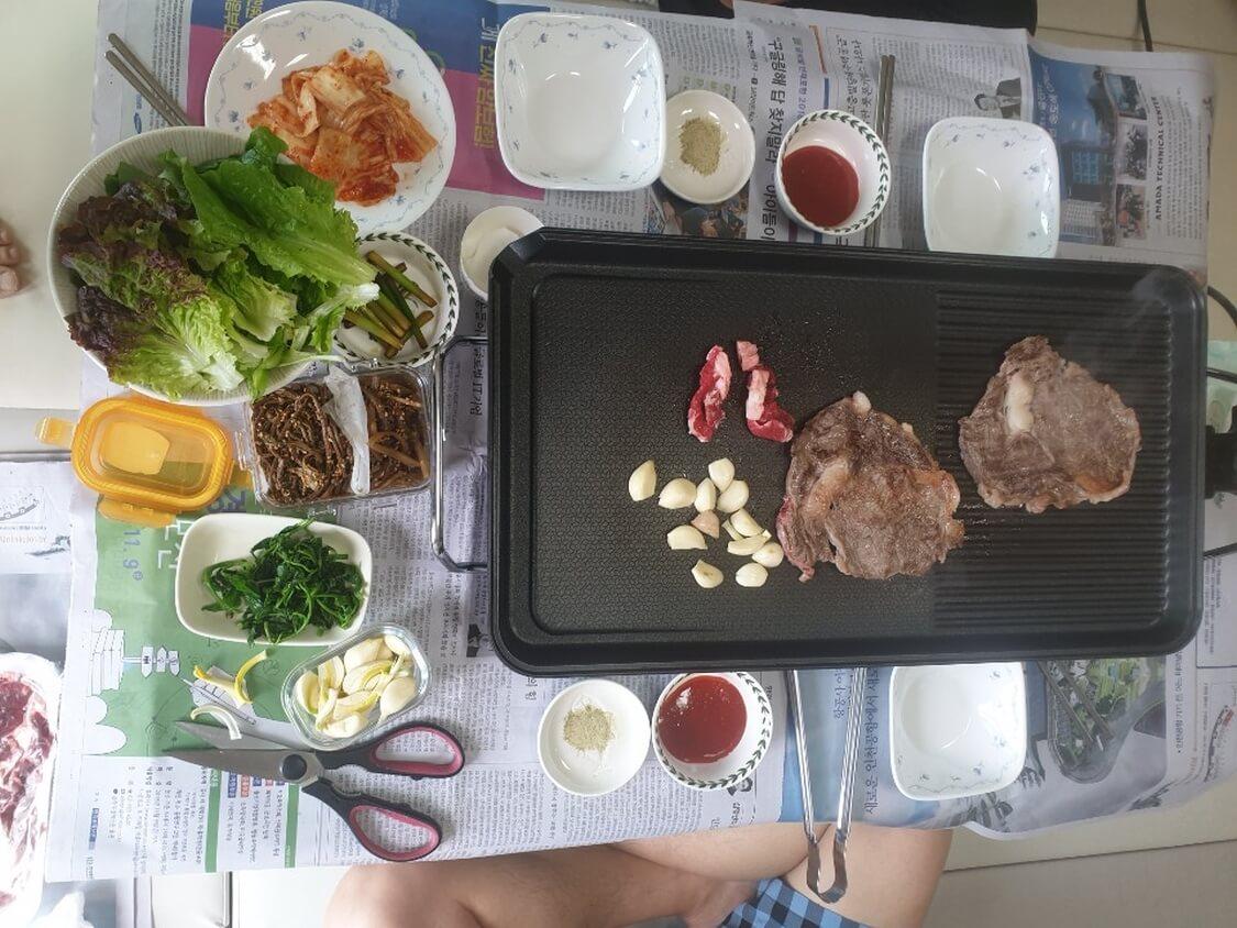 韓国の焼き肉スタイル