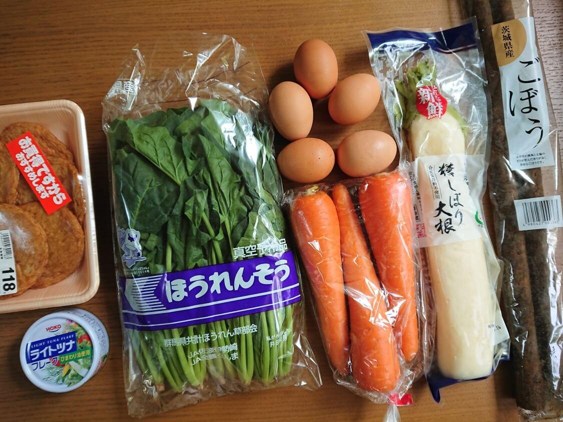 韓国の海苔巻きキンパの簡単レシピの具材