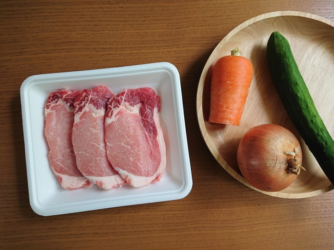 酢豚(韓国タンスユク)のレシピ材料