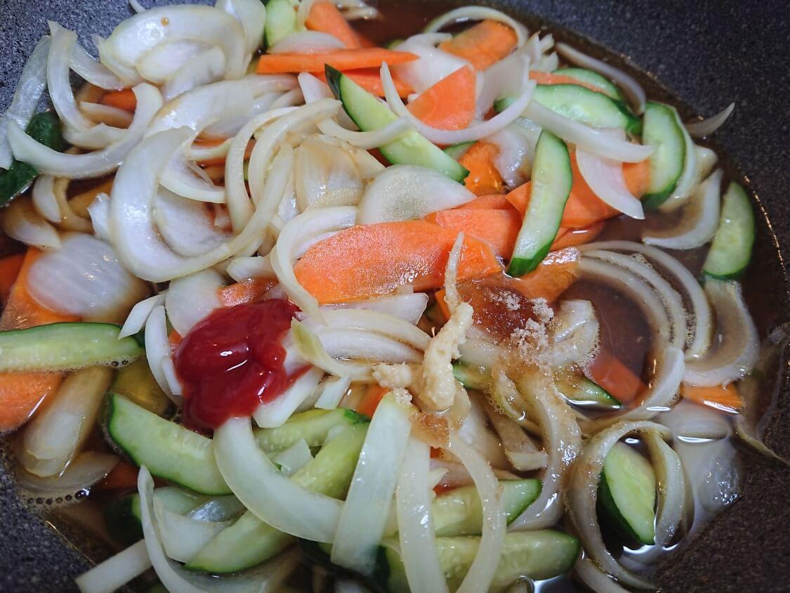 酢豚(韓国タンスユク)のタレの作り方