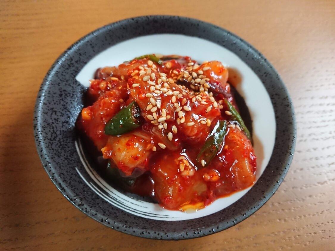 タコキムチのレシピ。韓国の塩辛「チョッカル」の作り方