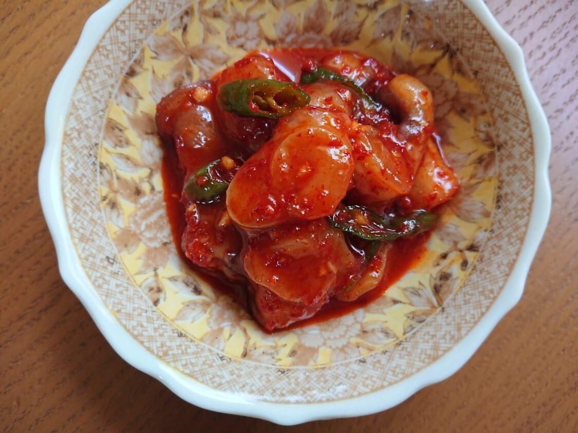 タコキムチのレシピ。韓国の塩辛「チョッカル」の完成