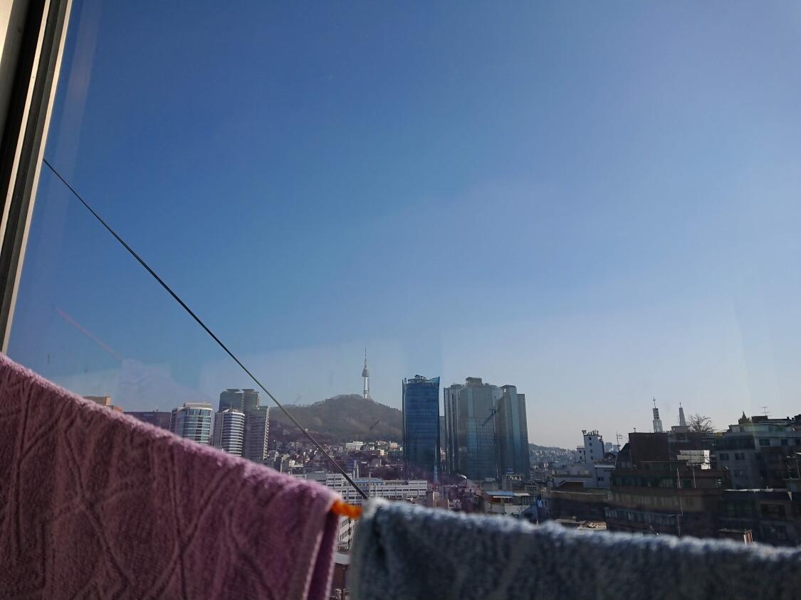 ソウルの実家からの風景
