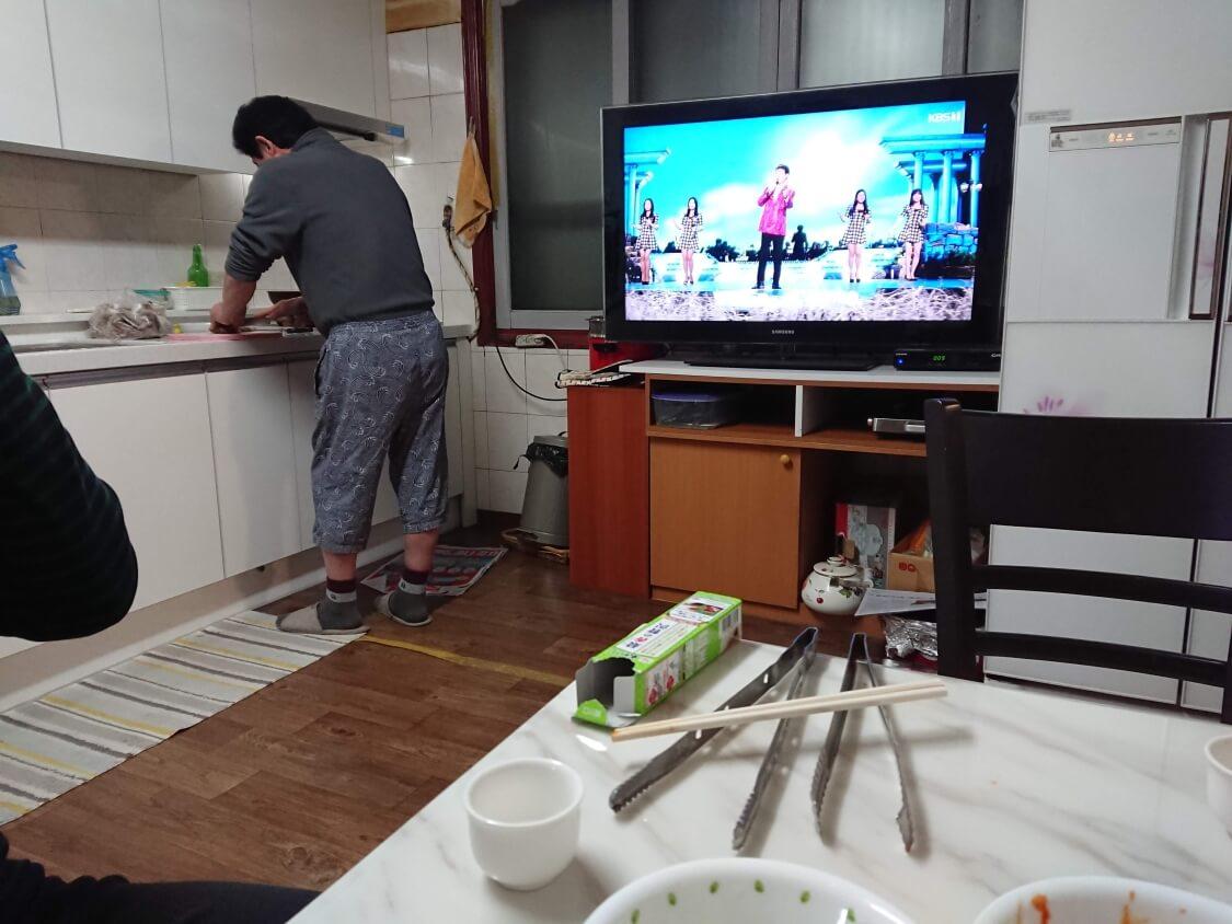 ソウルの実家で手料理