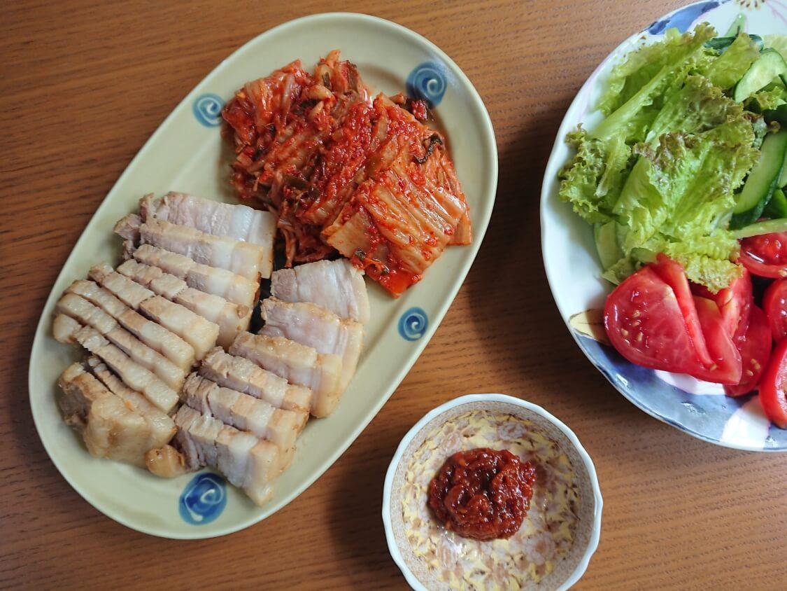 韓国料理ボッサムのキムチ