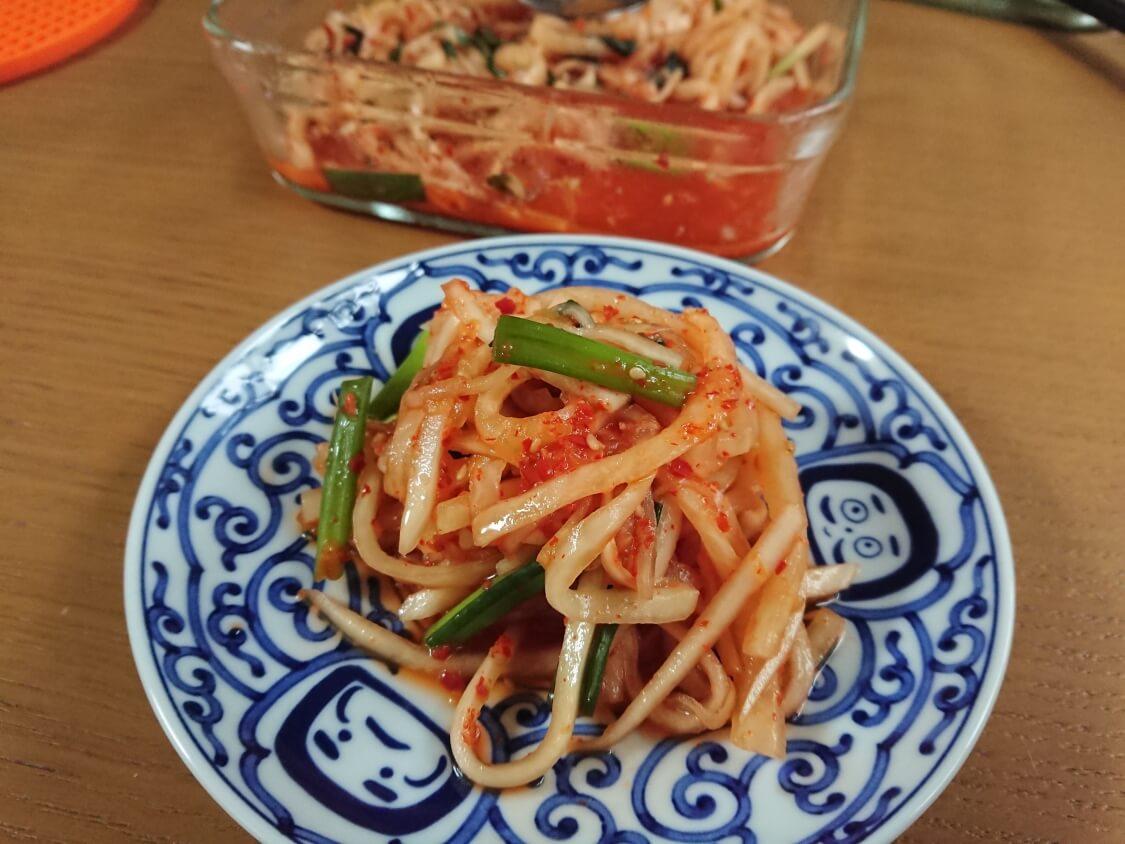 千切り大根のキムチ(韓国センチェ)のレシピ。作り置きおかず