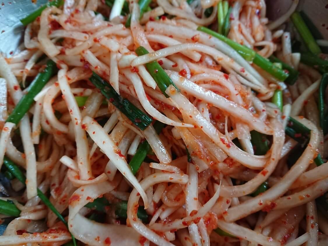 千切り大根のキムチ、韓国レシピ