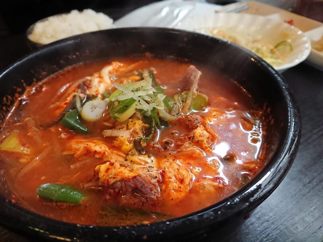 韓国料理ユッケジャンチゲ