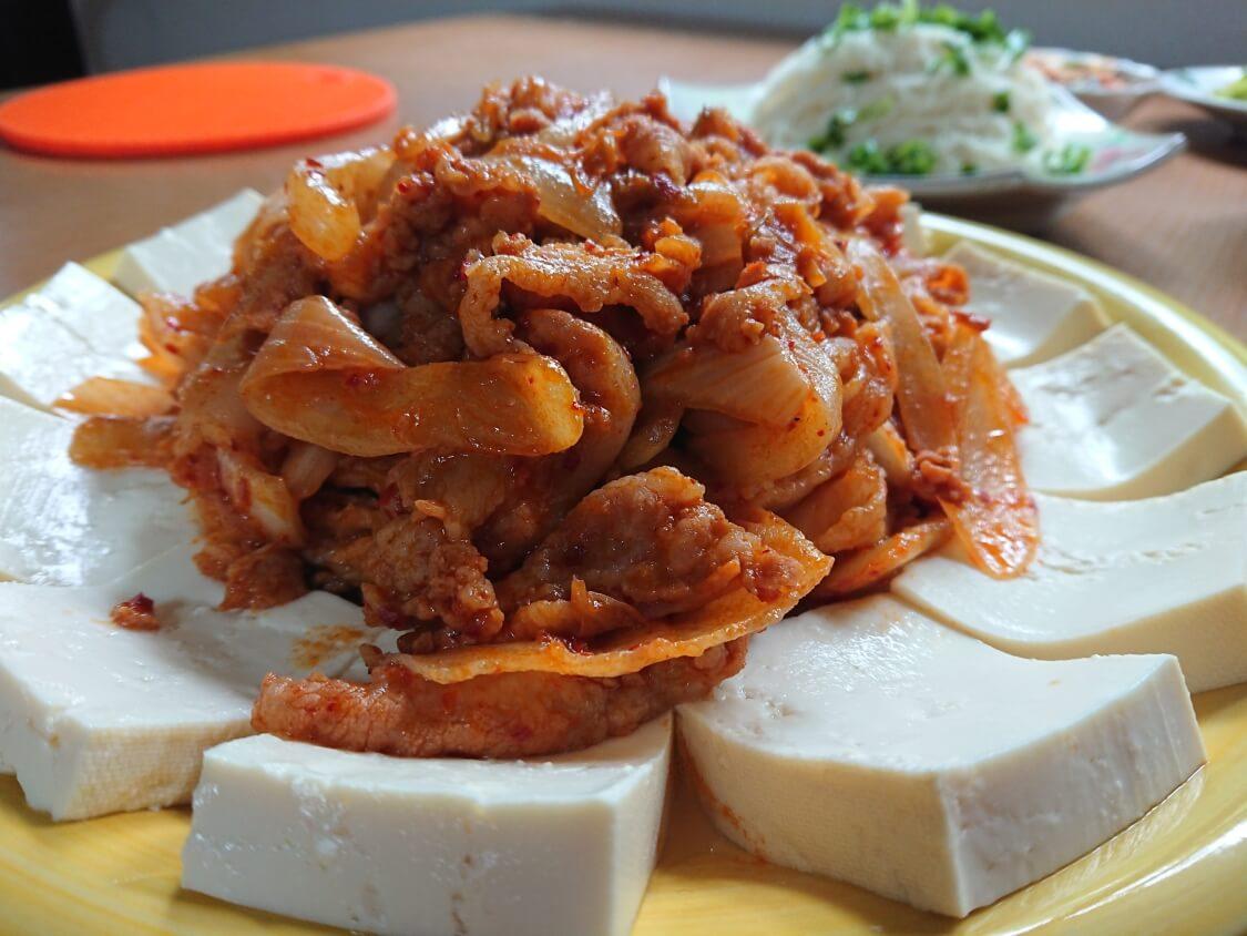 韓国料理、豆腐キムチ