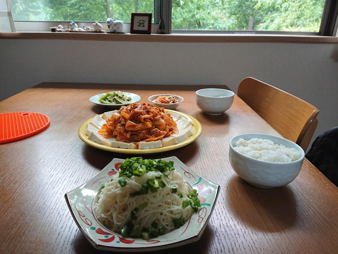 豆腐キムチの完成