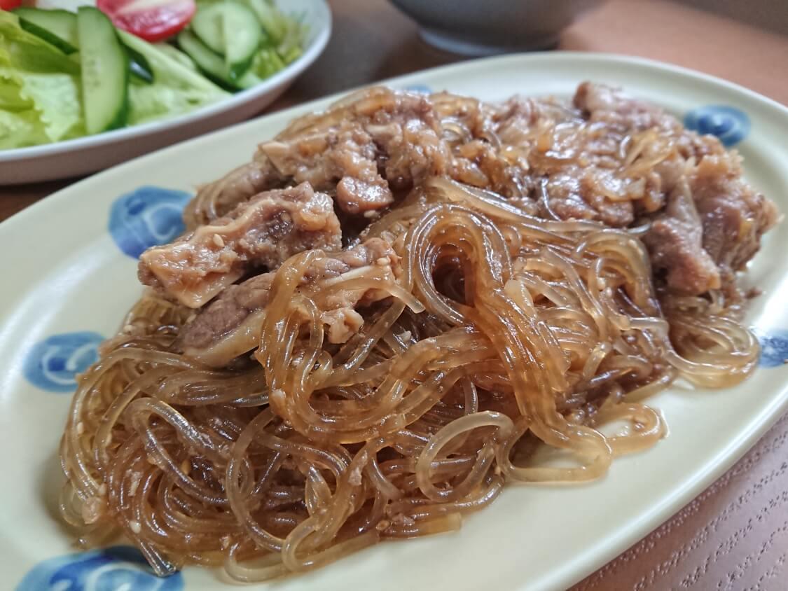 キャベツの簡単サラダキムチ。お肉料理の副菜にも良い