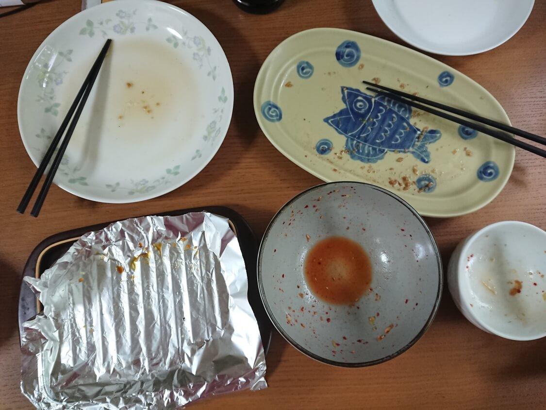キャベツの簡単サラダキムチ。完食