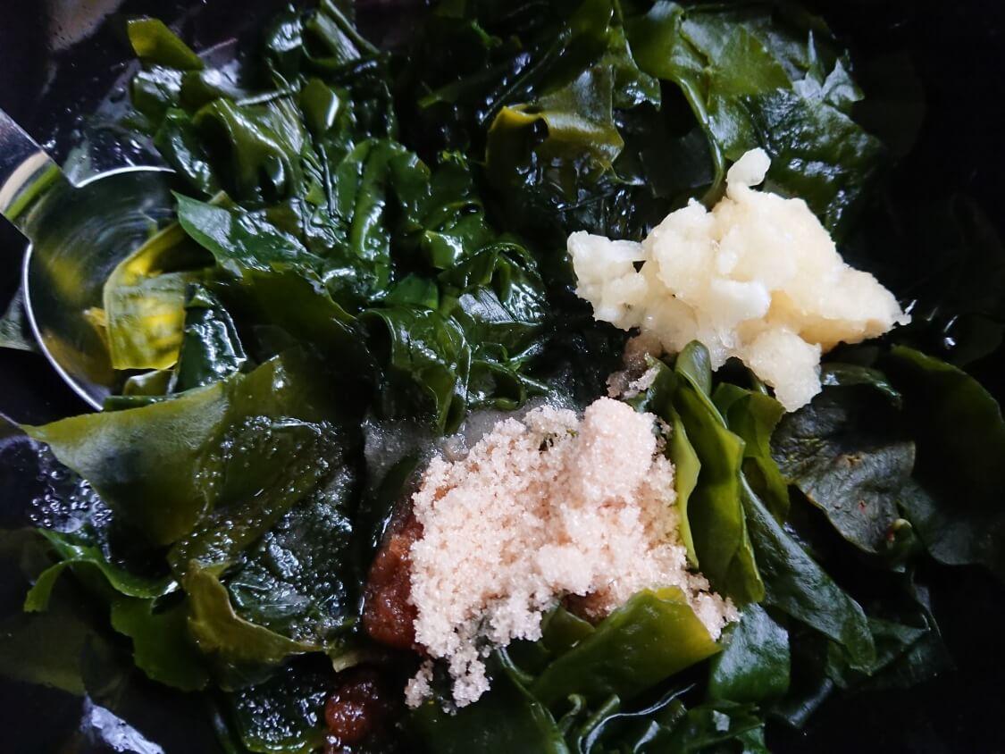 きゅうりとわかめの韓国冷製スープのレシピ。味付け