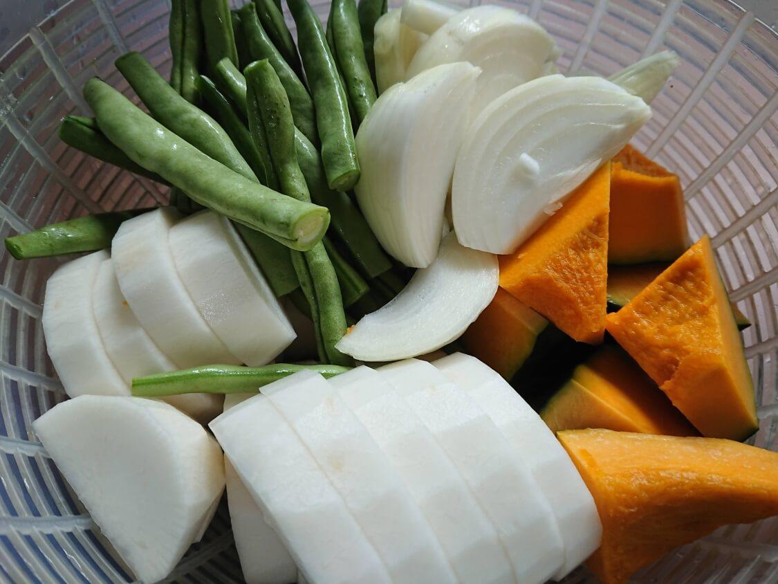 スペアリブの煮込み(韓国料理テジカルビチム)の作り方。野菜と具材