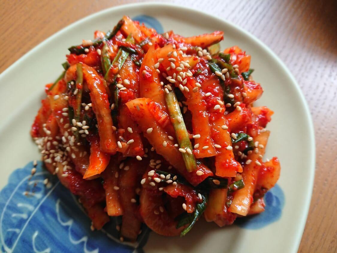 ポッサムキムチの作り方。茹で豚に一番人気の大根キムチ