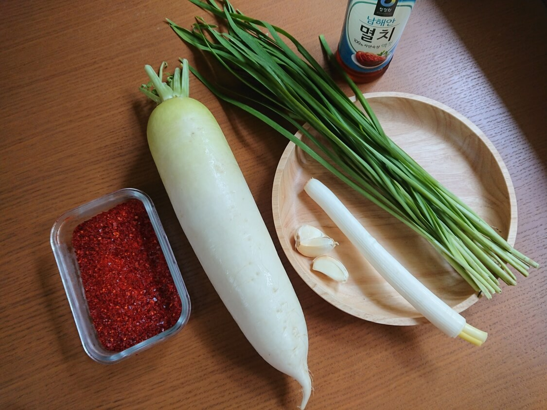 ポッサムキムチの韓国レシピ材料