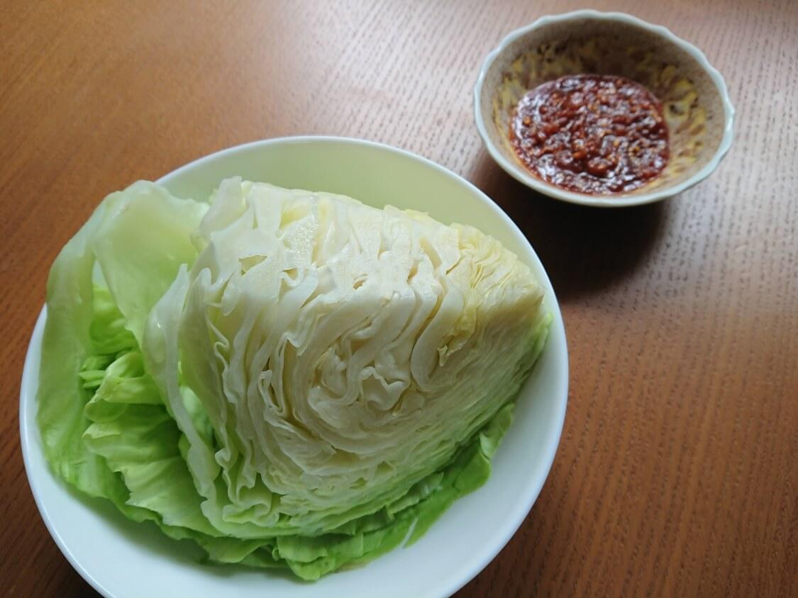 ポッサムのレシピ。タレと包む野菜