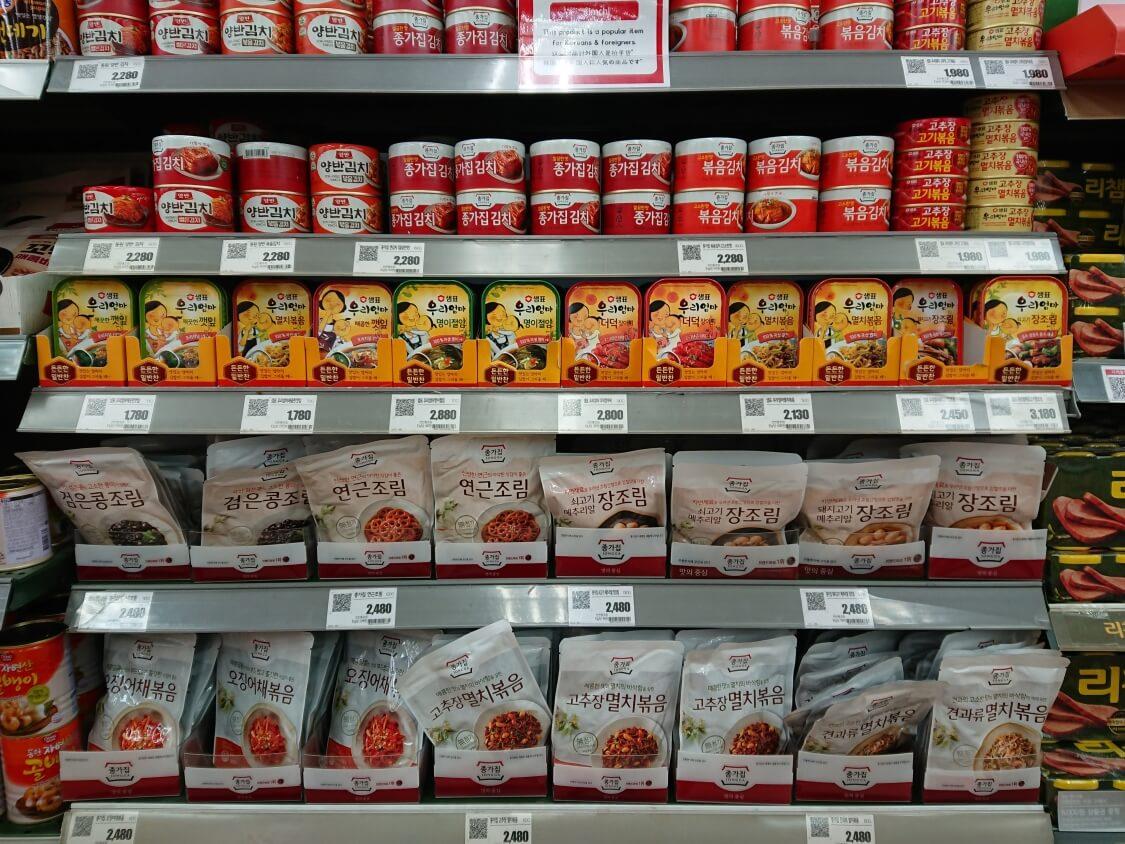 えごまの葉の醤油漬けの韓国缶詰