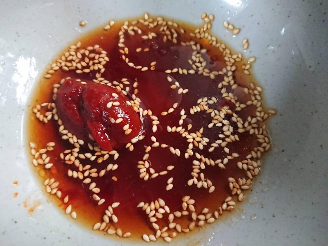 レンジで簡単!ごぼうの酢コチュジャン和えの作り方。味付け