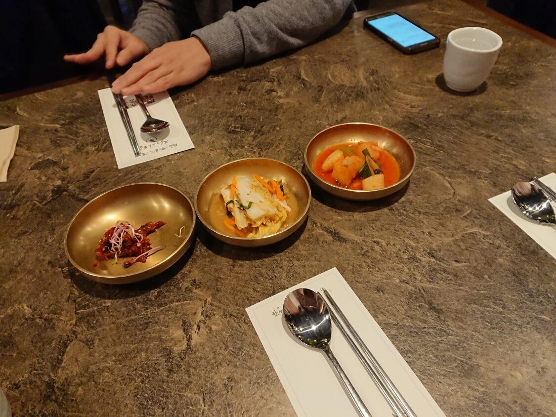 ソウル汝矣島IFCモールのレストランで食事