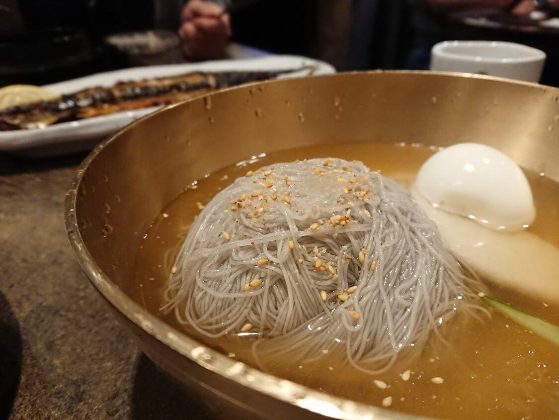 ソウル汝矣島IFCモールのレストランで食べた水冷麺