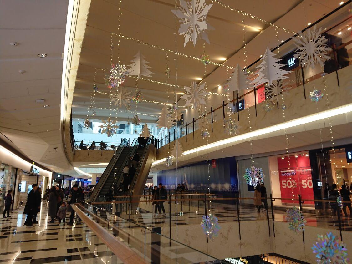 ソウル汝矣島IFCモールの雰囲気とお店