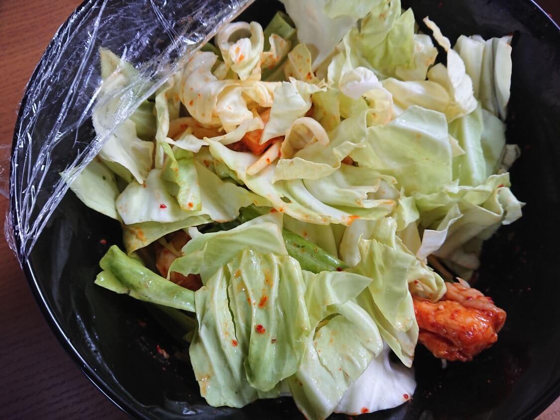 レンジで簡単!チーズタッカルビの作り方。野菜とチーズ