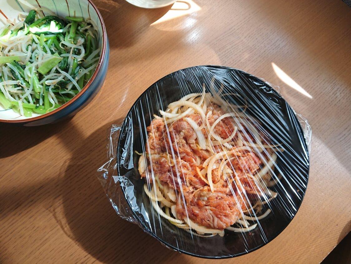 豚肉のコチュジャン炒め、チェユクポックムの作り方。レンジの加熱時間