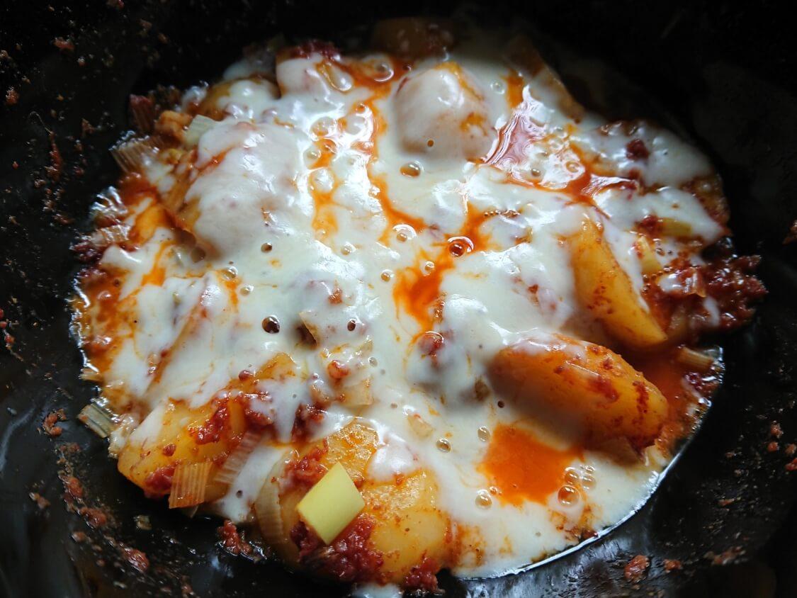 韓国風チーズコンビーフ。ホクホクじゃがいも入り ♪レンジで簡単レシピ