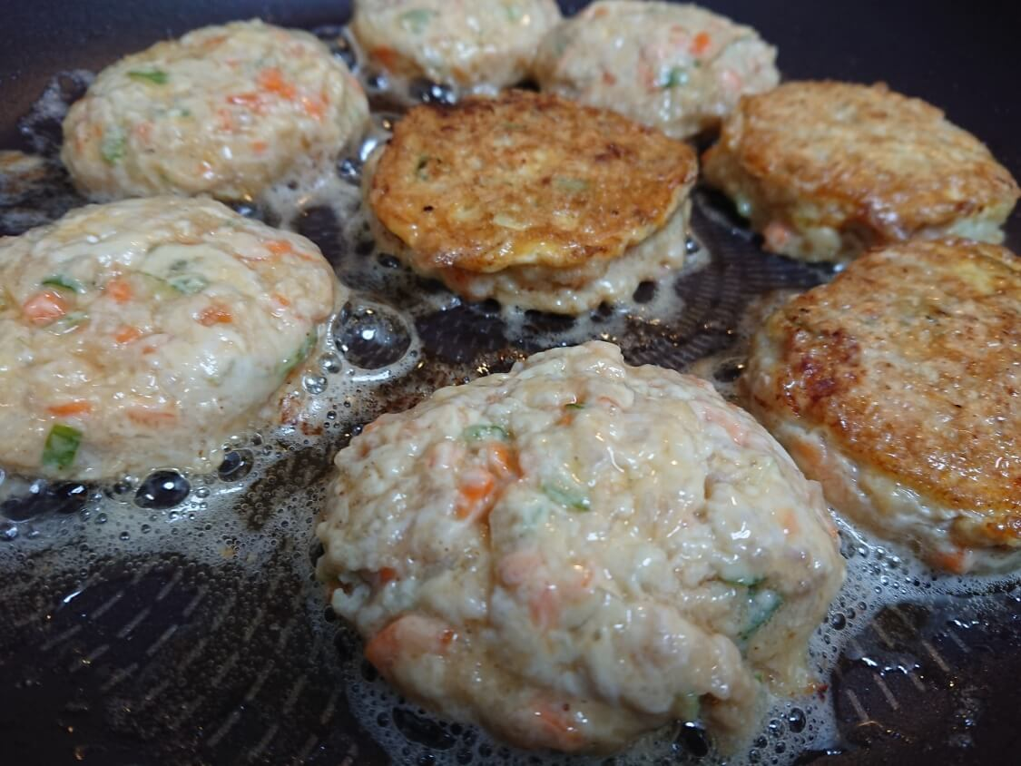 野菜たっぷり韓国風肉団子トングランテンの作り方、焼き方