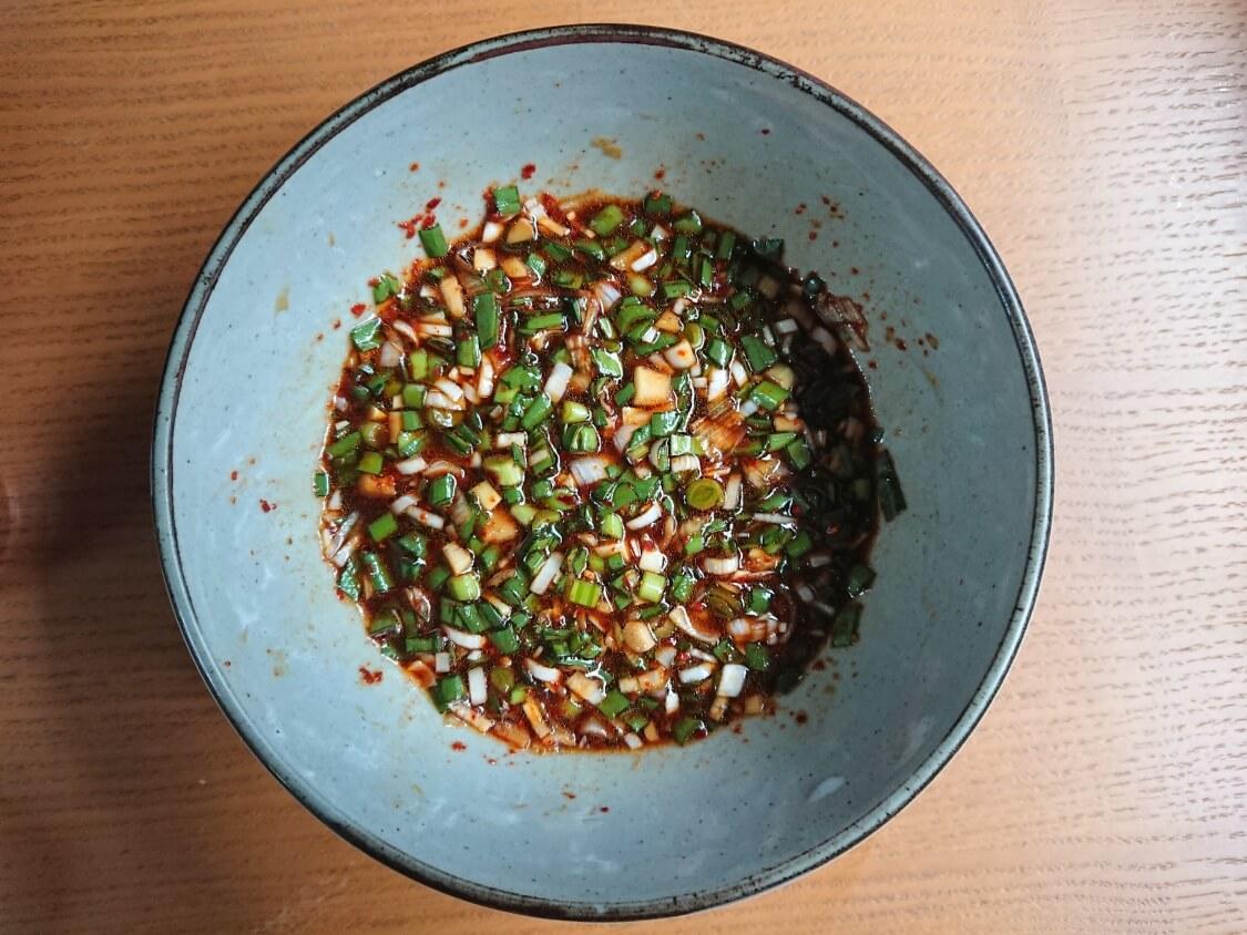 ニラ入りの万能醤油だれの作り方。完成