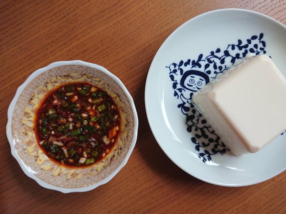 ニラ入りの万能醤油だれの作り方。豆腐にもご飯にもよく合う