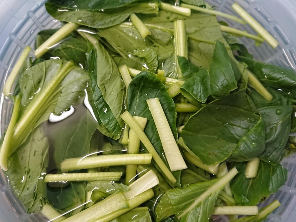 ヨルムキムチ(小松菜のキムチ)の作り方。野菜
