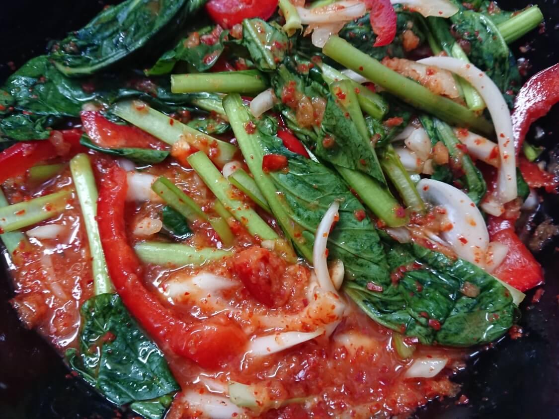 ヨルムキムチ(小松菜のキムチ)の作り方